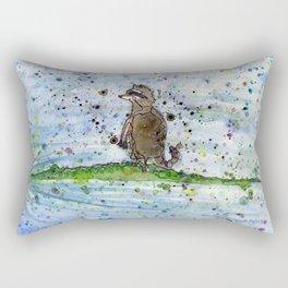 Aligator & Raccoon Rectangular Pillow