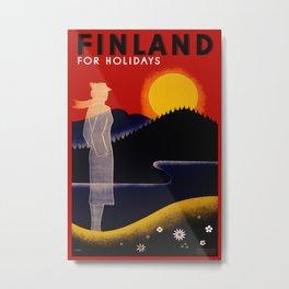 Vintage Finland Travel Metal Print