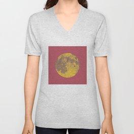 Chinese Mid-Autumn Festival Moon Cake Print Unisex V-Neck