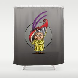 Red Hat Grandma Shower Curtain