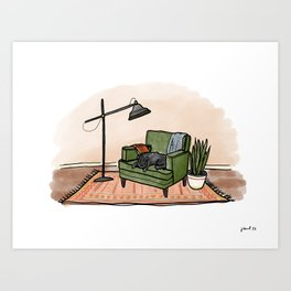 Still life with Cricket Art Print