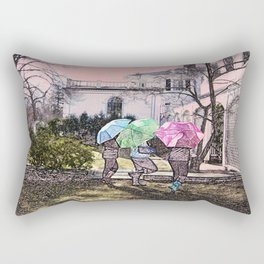 3 Umbrella's! Rectangular Pillow