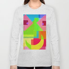 Abstract Geometry Face Long Sleeve T-shirt