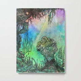 Seahorse Gardens Metal Print