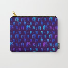 Blue stripes on dark Carry-All Pouch