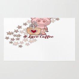 Piglet Loves Coffee Rug