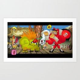Watch out Blanka! Art Print