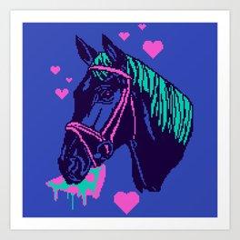 Pizza Pony Art Print
