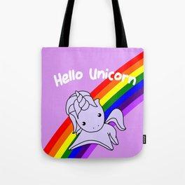 Hello Unicorn Tote Bag