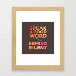 Remind Silent Framed Art Print