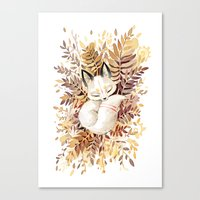 cuddle Canvas Prints featuring Slumber by Freeminds