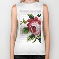 shabby chic Biker Tanks featuring Shabby Chic Rose by Alisa Galitsyna