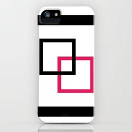Minimalist squares interlocked iPhone Case