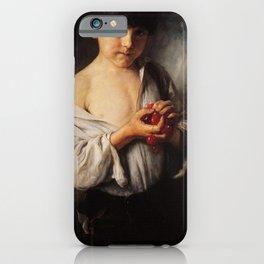 Nikolaos Gyzis - Boy with Cherries iPhone Case
