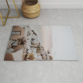 santorini x / greece Rug