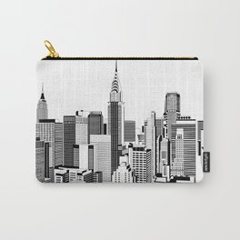New York Black and White 2 Carry-All Pouch