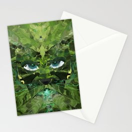 The Green Man Breathing Down My Neck Stationery Cards