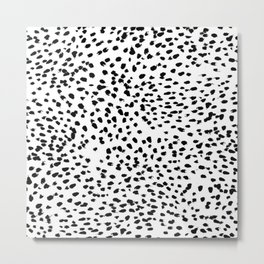 Dalmat-b&w-Animal print I Metal Print