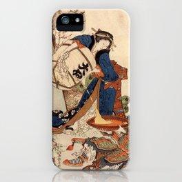 The Strong Oi Pouring Sake by Katsushika Hokusai iPhone Case