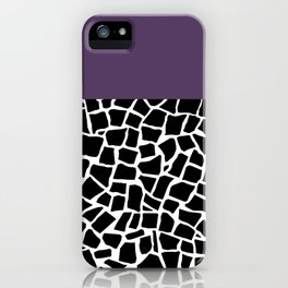 British Mosaic Purple Boarder iPhone Case