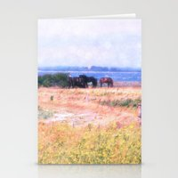 horses Stationery Cards featuring Horses  by Truly Juel