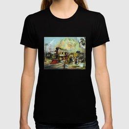 Vintage Transcontinental Railroad T-shirt