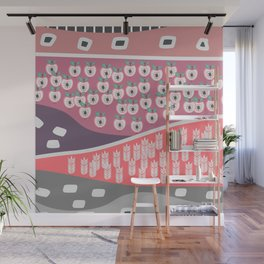 Apples and grains Wall Mural