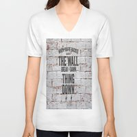 motivational V-neck T-shirts featuring Motivational quote n. 2 by AnnaF31
