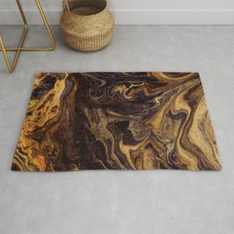Chocolate and Gold Rug