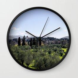 Tuscan Hills Wall Clock