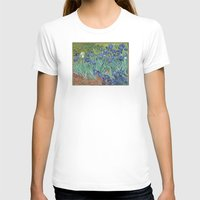 van gogh T-shirts featuring Vincent van Gogh - Irises by Elegant Chaos Gallery