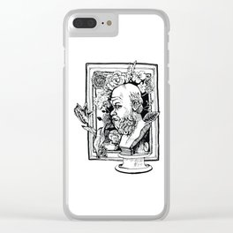 Philosopher with flowers Clear iPhone Case