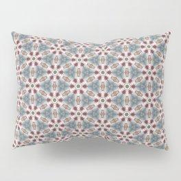Teal & Red Geometric - Nautical Ship Wheel Pillow Sham