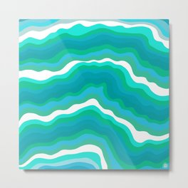 seaglass waves Metal Print