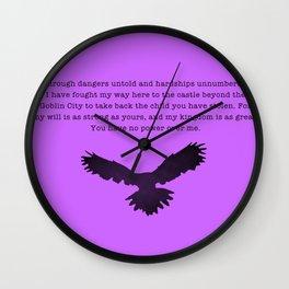 Through Dangers Untold Wall Clock
