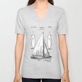 patent art Herreshoff  Sail Boat 1925 Unisex V-Neck