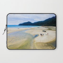 able tasman natural reserve sand low tide walk panorama Laptop Sleeve