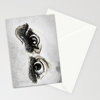 Doubt Black Eyes Stationery Cards