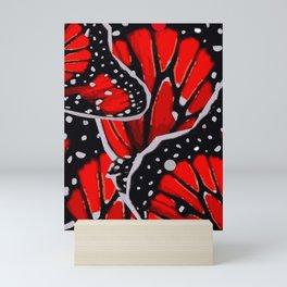 red monarch Mini Art Print