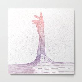 Mother Earth - Gradient Metal Print