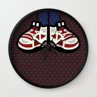 air jordan Wall Clocks featuring AIR JORDAN 6 by originalitypieces