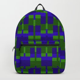 Squares and Lines in Blue and Green Backpack