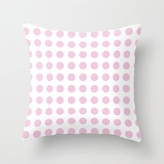 Simply Polka Dots in Blush Pink Throw Pillow