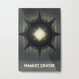 Oberon - Hamlet Crater Metal Print