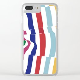 abstract stripes Clear iPhone Case