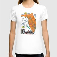 florida T-shirts featuring FLORIDA by Christiane Engel