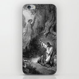 Gustave Dore - Jesus suffers agony in the garden of Gethseman iPhone Skin