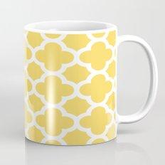 Yellow Quatrefoil Mug