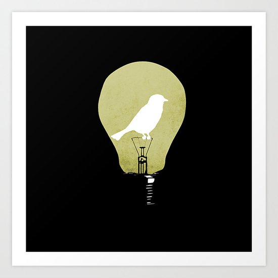 ideas take flight Art Print