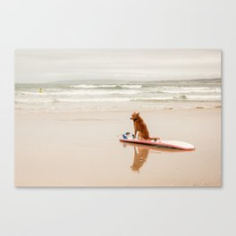 Waiting on the beach Canvas Print
